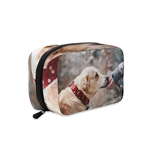 Bolsa de maquillaje para perro labrador canino para mascotas, bolsa de maquillaje...