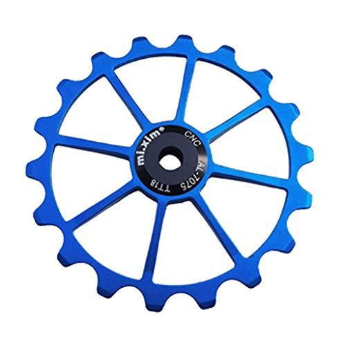 JIACUO 18T, Rueda de Jockey de Bicicleta, rodamiento de cerámica, polea de Cambio, aleación de Aluminio, guía de Cambio Trasero, Piezas de Bicicleta de Carretera MTB