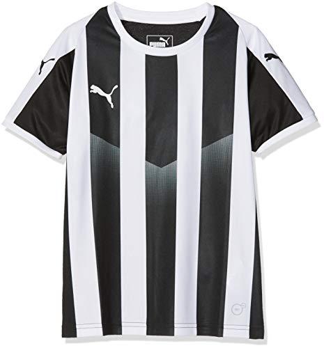 PUMA Liga Striped Jr Maillot Mixte Enfant, Noir Blanc, FR Unique (Taille Fabricant : 140)