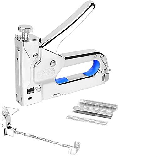 SZHXH Pistola Grapadora de Servicio Pesado 3 en 1 Muebles de Clavos Multítimos Muebles de Muebles Grapadora para Muebles Puerta de Madera Tapicería de tapicería Herramienta de Remache