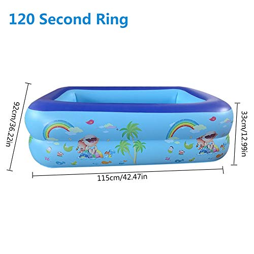 Childlike Piscina Hinchable Rectangular, Piscina Inflable Infantil, Familiar Engrosado PVC Ecológico Piscina, Piscina Easy Set, Bañera Hinchable para Niños Y Adultos - 115 X 92 X 33 CM