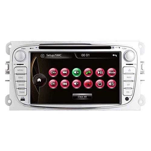 JIBO 7' Androide Doble Estruendo GPS Navegación Cabeza Unidad por Ford Focus MK2 Mondeo MK4 Galaxy S-MAX Multimedia Jugador Nav Sat Tocar Pantalla SWC Teléfono Control Video Receptor