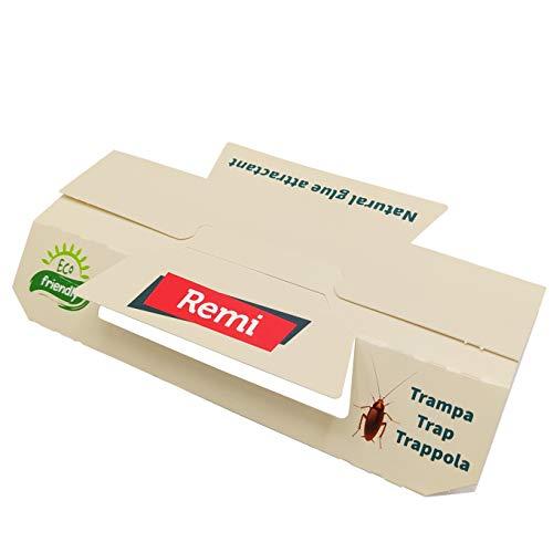 Remi Hogar 5 Trappola Per Scarafaggi XL Con Attrattivo Alimentare Di Alta Durata | Trappola Professionale Eco
