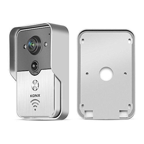 KONX 2016 - Campanello popolare wireless, con videocitofono, a infrarossi per visione notturna, allarme, Android, IOS Smart Home