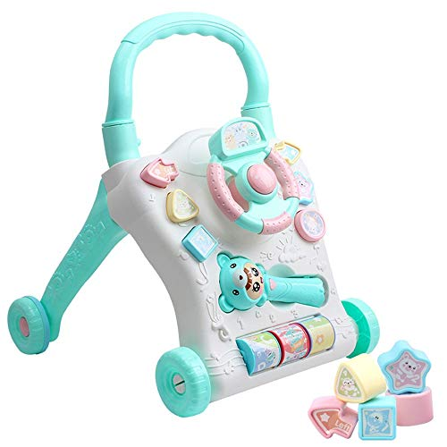 Kanqingqing Trotteur Multifonction Early Learning Puzzle Walker Jouets for Enfants Baby Walker Cart 0-2 Ans pour Enfants Enfants Garçons et Filles (Color : Pink, Size : 48.5 * 42 * 40CM)
