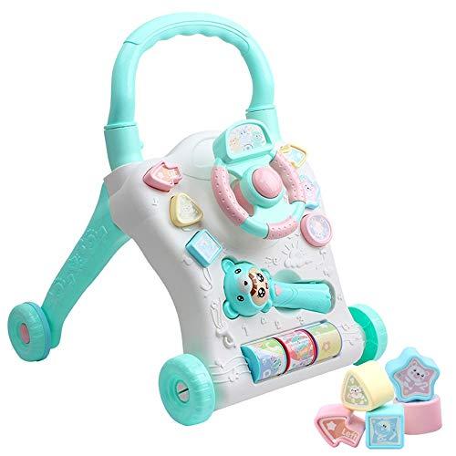 Liuzecai Activité Walker Baby Walker Cart 0-2 Ans Multifonction d'apprentissage précoce Puzzle Walker Enfants Jouets 2-en-1 Utilisation comme Push & Pull Toys 2-in-1 bébé Walker