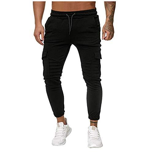 JiaMeng Hombre Joggers Jogging Casual Pantalón Sport Slim fit Empalme Gradiente Monos Casual Bolsillo Deporte Trabajo Casual Pantalones de pantalón