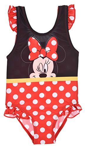 Minnie Mouse Bimba Costume da Bagno Un Pezzo (Rosso,18 Mesi)