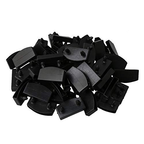 Mxfans einzelne Endkappen für Lattenrost, Ersatzteil, 55 mm Länge, 50 Stück