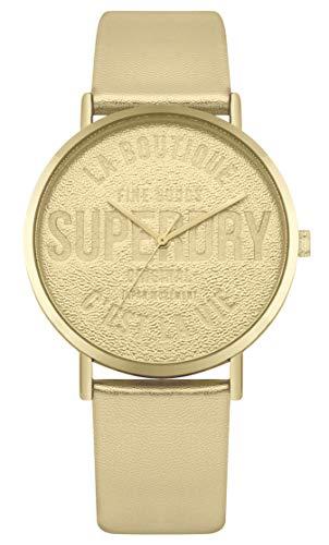 Superdry Damen Analog Quarz Uhr mit Leder Armband SYL251G