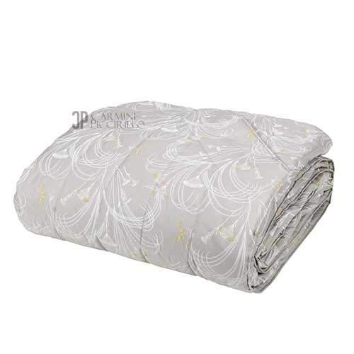 Fazzini - Colcha acolchada para cama de matrimonio, color gris
