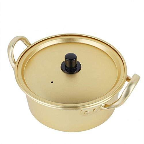 Profesional Seguro Ollas Soperas Sopa de Olla, Estilo Coreano Ramen Olla de Aluminio de aleación de Sopa de Olla, Rapid Fideos Cocina, Caldera de 3 Minutos for la Sopa de Pasta de Huevo, enfriamiento