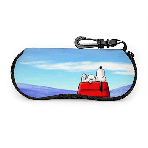 Brillenetui, Snoopy Tragbare Reisebrillenetuis mit Reißverschluss und Lesebrillen im Schutzset