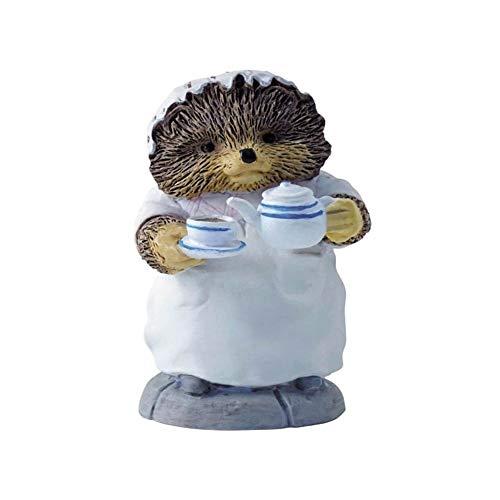 Beatrix Potter Figurine Madame Piquedru la blanchisseuse sert le thé