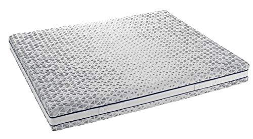 InHouse Srls Colchón Memory Flex Infinity - Colchón individual 90 x 190 x 21 cm - Ergonómico - Desenfundable - Certificado con dispositivo médico
