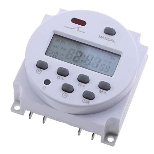 Amuzocity Temporizador LCD Digital Programable DC24V 168 Horas