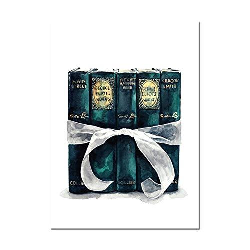 Geiqianjiumai Dekoration wandkunst schöne mädchen geschenkbox Brot nordischen Stil drucken leinwand Bild aquarell Poster Schlafzimmer modulare rahmenlose malerei 30x40 cm