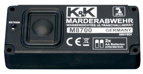 Cartrend M8700 Marderabwehr - wasserdichtes Sinus-Ultraschallgerät, Batteriebetrieb, Reichweite bis zu 6m/60m², mit IP 65
