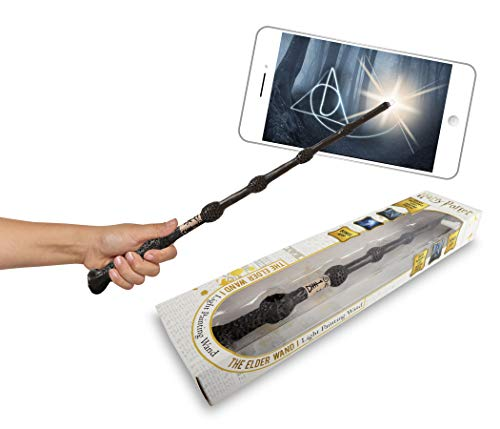 Dickie Toys 209456011 - Rotulador Luminoso con aplicación, Varita mágica de Harry Potter con función, Color marrón