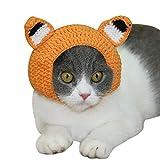 YONFAN - Cappello per animali domestici, per gatti, cani, cuccioli, con fori per le orecchie