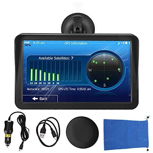 Navegador GPS, 9in Coche Portátil 7in Pantalla táctil capacitiva Navegación GPS para Coche Navegador de camión 256MB + 8G