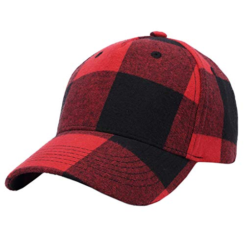 YONKINY Baseball Cap Herren Classic Unisex Mütze Baumwolle Basecap Karierten Stil Hip-Hop Baseballkappe (#2)