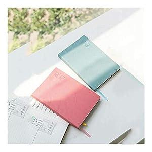 Cuadernos Diseño de trazado Horizontal Notebook, Enc Espuma Cubierta Diario, 128 Hoja Premium Papel Grueso, 4 Estilos Disponibles, for la Escuela de la Oficina blocs de Notas (Color : Blue+Pink)