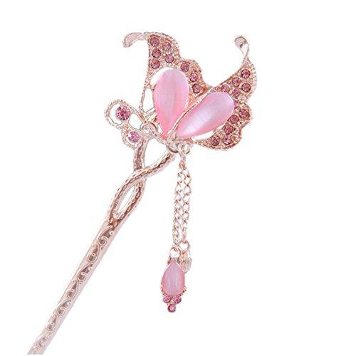 belle chignon/millésime chignon/papillon épingles à cheveux, rose