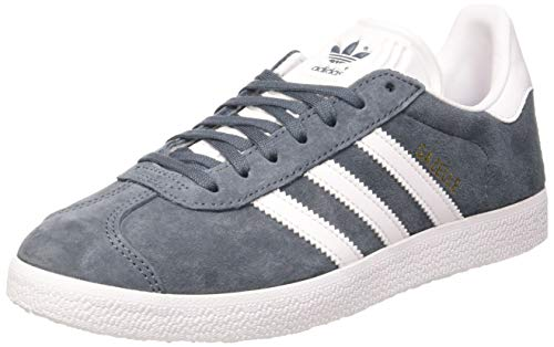 Adidas Gazelle W, Zapatillas de Deporte para Mujer, Azul (Legacy Blue/FTWR White/Gold Met), 42 EU