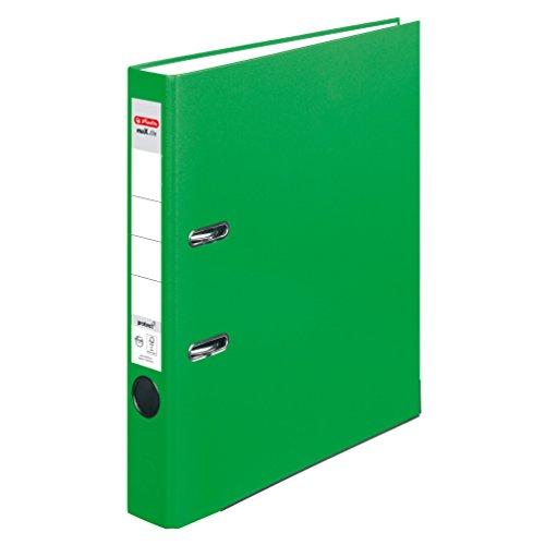 Herlitz 11053675 Ordner maX.file protect (A4, 5 cm, mit Einsteckrückenschild) hellgrün