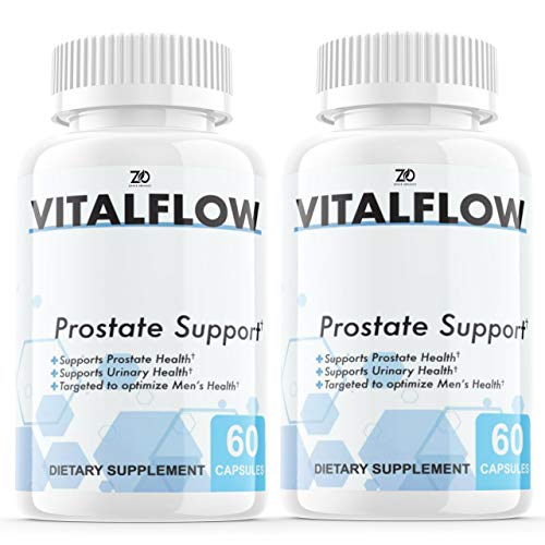(2 Pack) Vitalflow Prostate Supplement, Vitalflow Prostate Pills, Hair Loss, DHT Blocker - Vital Flow Supports Those with Frequent Urination - Saw Palmetto (120 Capsules)