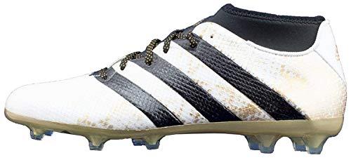 adidas Herren ACE 16.2 Primemesh FG/AG Fußballschuhe, Weiß (FTWR White/Core Black/Gold Met.), 41 1/3 EU