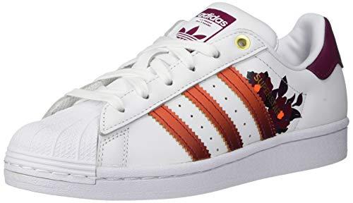 adidas Originals Superstar - Zapatillas deportivas para mujer, Blanco (Blanco/Power Berry), 39.5 EU