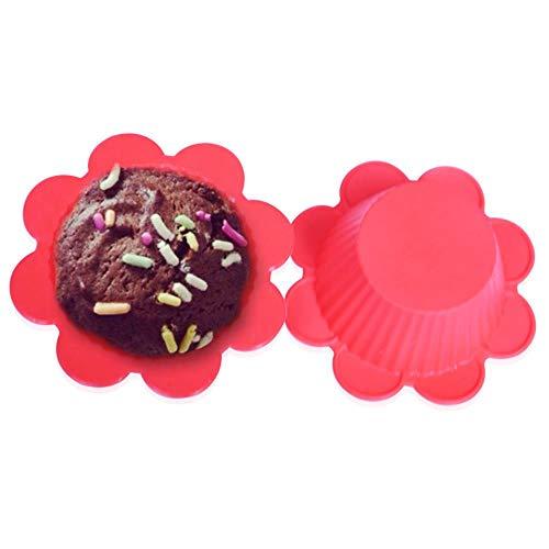 Zbkt Siliconen Ice Cube Bakken Cake Chocolade maken Jelly Mini Bloem Siliconen Cup Mould