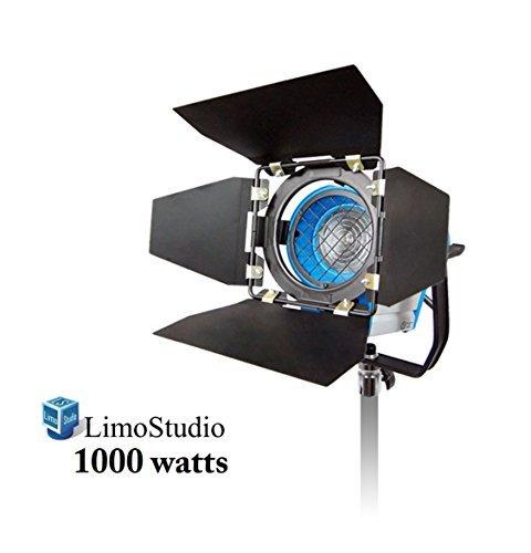 LimoStudio 1000 Watt Photography Photo Video Studio Light Head, Film and Television Tungsten Fresnel Continuous Light Spotlight, AGG1028