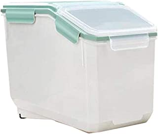 AWAING Bocaux Céréales Conteneurs de riz Boîte de rangement en plastique de joint Preuve d'humidité à la mesure de la Coup...
