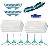 MTKD® Kit Accesorios para Aspiradora Robot Cecotec Conga Excellence 1290 y 1390 - Cepillo Central, Cepillos Laterales, Filtros EPA y Mopas.