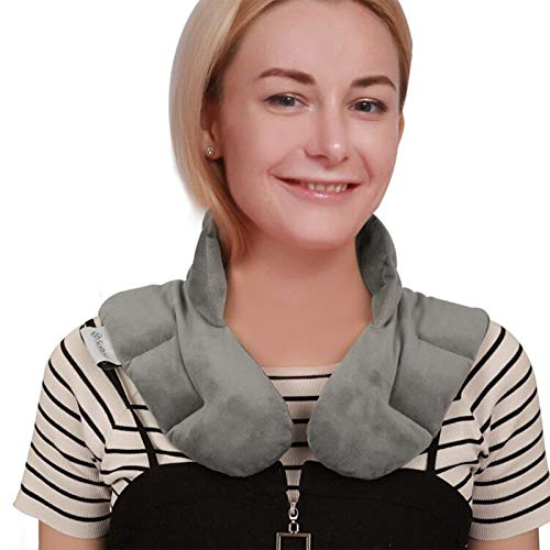 softan Microwavable Weighted Neck & Shoulder Wrap for Therapy, Heating...