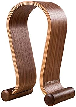 Deco Gear Wood Headphone Display Stand Secure Tabletop Holder