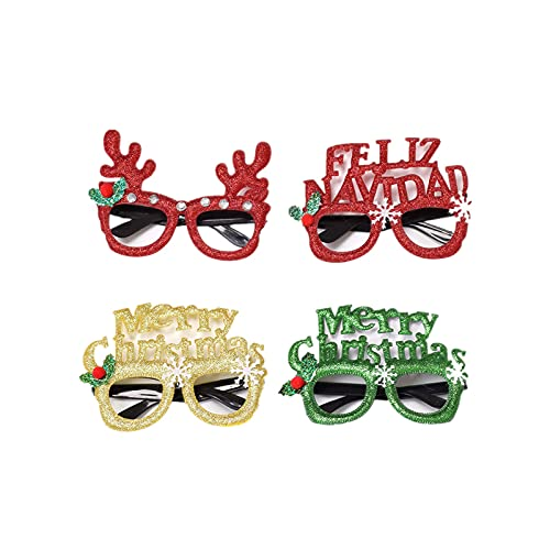 Glasses children dress up Christmas glasses frame suitable for children adult men and women 4pcs