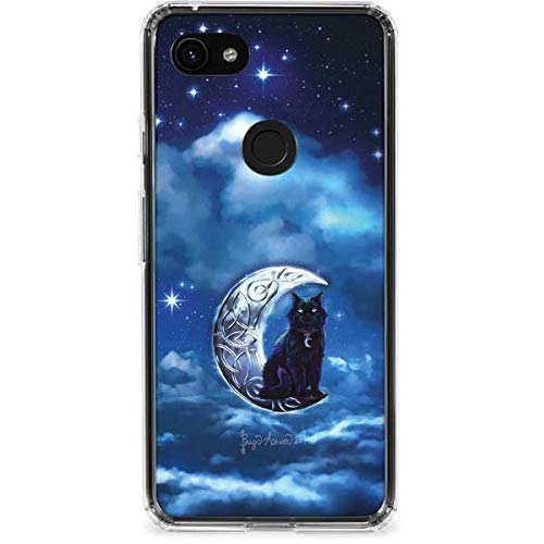 Skinit Clear Phone Case Compatible with Google Pixel 3a XL - Originally Designed Celtic Black Cat Design