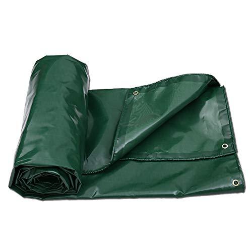 KXBYMX Bâche imperméable extérieure avec tente de couverture en tissu résistant à la pluie en toile robuste Bâche imperméable de haute qualité (Couleur : Green, taille : 2×3m)