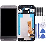 JSANSUI LCD Touch Screen digitizer Screen Replacement Touch Display LCD Digitizer Assembly with Front Facing Camera Proximity Sensor+Full Repair Tools for HTC One M9 (Color : Grey)