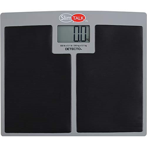 Detecto SlimTalkXL Home Health Talking Scale-550 lb Capacity