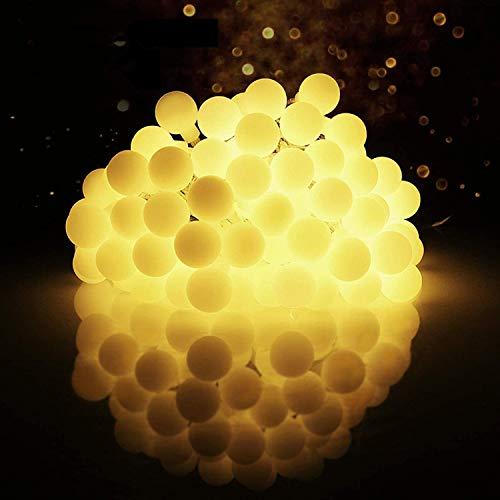 LED Kugel Lichterkette Bunt, EOZFLY 10 M 80 Led Partybeleuchtung mit 8 Modi Warmweiß Außen Globe Lichterkette für Party und Innen, Weihnachten, Kinderzimmer, Party, DIY usw [Energieklasse A+++]