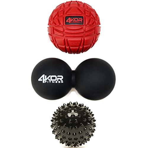 4KOR Fitness Massage Balls for Deep Tissue Muscle Recovery, Perfect for Myofascial Release and...