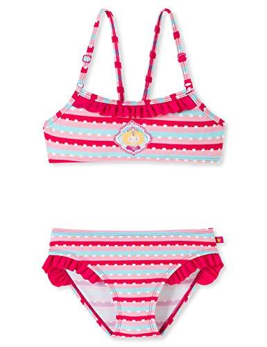 Schiesser Mädchen Prinzessin Lillifee Bustier-Bikini Badebekleidungsset, Mehrfarbig (Multicolor 1 904), Herstellergröße: 104