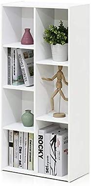 Heera Moti Corporation Arrow 7 Cube Storage Box/Cabinet/Open Storage (Finish :-White pre- Laminated Matt)
