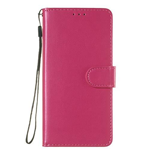 Docrax Handyhülle Lederhülle für iPhone XR, Flip Case Schutzhülle Hülle mit Standfunktion Kartenfach Magnet Brieftasche für Apple iPhone XR - DOYHU250031 D1