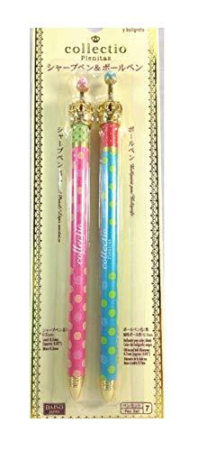 Daiso Japan シャープペンシル&ボールペン コレクティオ かわいい (ピンク&ブルー)